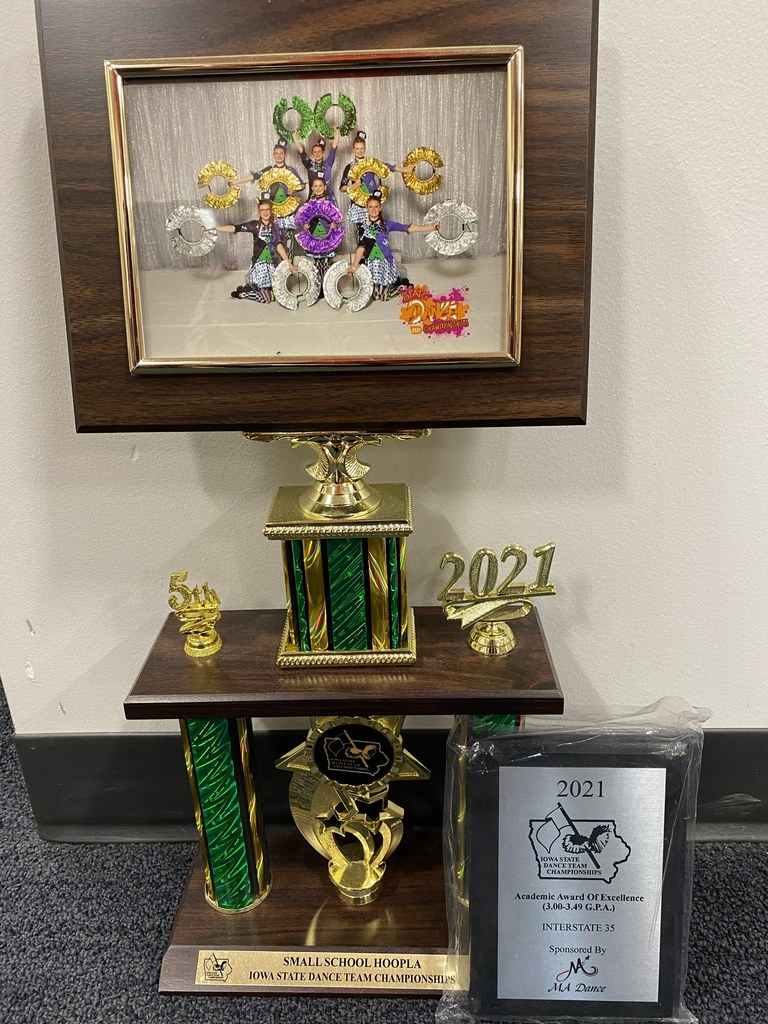 Dance team trophies